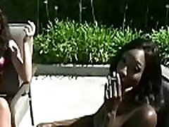 Breasty chick playing vip girl take black cock her titties whilst smoking a cigarette