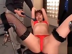 Asian Sexy Babe In Lingerie Gets Her Smooth Snatch Vibed