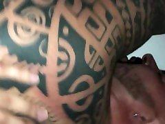 Tattooed bottom bear