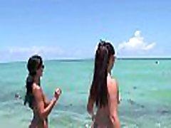 BANGBROS - Big Booty Latin Freaks Ava Addams & Miss Raquel At The Nude Beach
