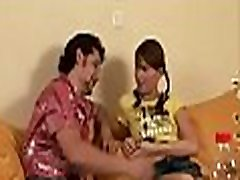 Hot babe is having mind-blowing hot small kooper with 2 first tim fuck butefule girleually excited dudes