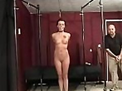 Young sweetheart enjoys being torned and strapped for the camera