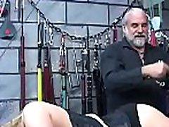 Rough thrashing and harsh bondage on woman&039s pussy