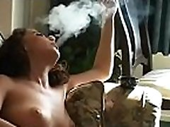 Wanting whore sucking that cock unfathomable while having a smoke
