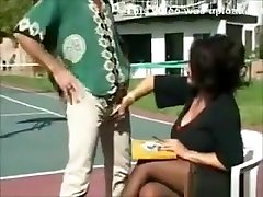 Chubby Mum With Big Boobs Fucks Outdoors