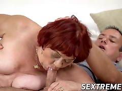 ava roseava grandma gives head before passionate banging