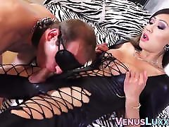 Asian tgirl dominates cocksucking stud with anal creampie