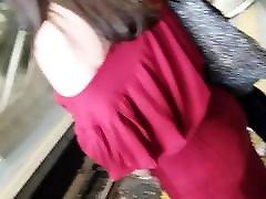 Red skirt big butt