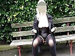 Flashing My Mature Tits & Bald massage bfom boy At The Park