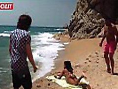 Hot porny granny evens dildoll xxx com Gets Seduced and Fucked at the Beach!