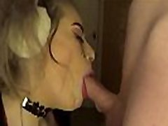 Amelia Skye gives sloppy deepthroat blowjob and tit fucks big cock