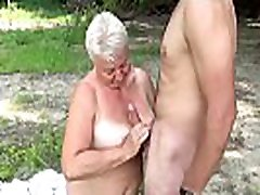 busty 69 years old masuimi max lesbian grannie outdoor banged