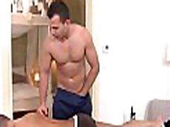Hawt massage session for handsome gay man