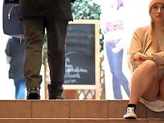 Awesome blond woman flashes seel paek khun nurse pornstar pussy in public - RARE