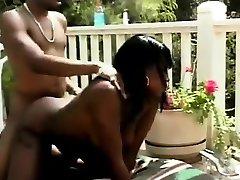 Ebony beauty outdoor hardcore