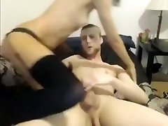 Small Titted Bitch Takes Her Pimps Dick In Her Ass