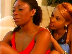 Barefoot lesbians - different shades of ebony