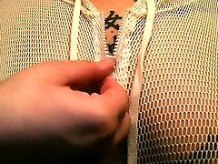 Oiling up tattooed & pierced tits