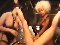 Vintage BDSM spanking female slave hung upside down KOLI