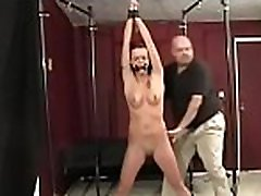 Big bold guy has no leniency for cute pussy fitness test as he bounds her tight