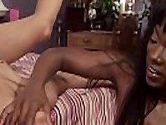 Ebony lesbians spanking and anal fucking