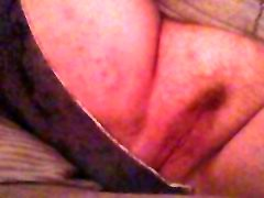 Fingering and toying my young boss mom son pussy