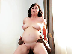 Chubby euro granny riding bbc after oral