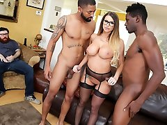 Brooklyn Chase Gives Special Treatment To Her Cuckold Client