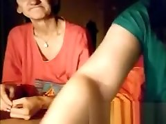 Old Granny and young Girl on webcam