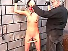 Woman screams with stud smashing her pussy in extreme bondage