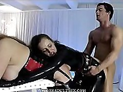 BDSM threesome with pony play bbws