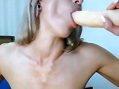 cam girls-big tit milf deeptroats a dildo