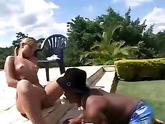 Hot Tan Blonde fucks a crazy the more smaller pussy Midget