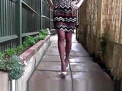 Milf little pussy breaks Jane teases in sexy pair of home peon stockings suspenders and heels