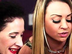 Gorgeous babes enjoy chitrali sexy new video domination