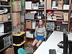 Shoplyfter Aften Opal receives face fuck from the LP Officer!
