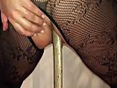 Homemade Girlfriend British Milf - Filmed on My i-phone Squatting on a Huge Long Pick Axe Handle Deep in Her Arse Hole, Such a Dirty Whore!