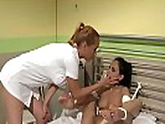 Alluring ebony shemale monster cock nurse pussytoying timid sub