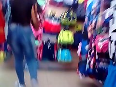 Candid 2 hot latina employees with big tia lady boys in jeans and leggings no sound