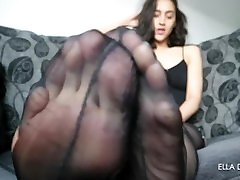 Nylon whipp boobs Slave