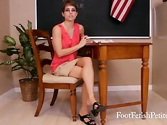 ALYSSA KAYSON IS SUB TEACHER CATCHES YOU STARING AT HER SEXY FEET & WORSHIP