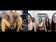 5 cam models LAUGH at scarrlett johnson using WHIPPED CREAM up his ASS
