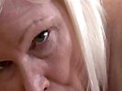 Busty granny masseuse