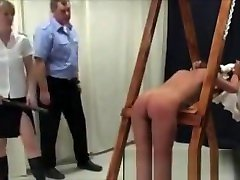 Tied Lianne Gets Spanked With A Ruler