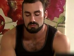 Hairy hunk gets himself some ass after giving a massage