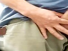 SPY DADDY BIG COCK PISSING AT gay russian army boys URINALS