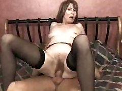 Red Headed adult female model having Rough Slapping Sex