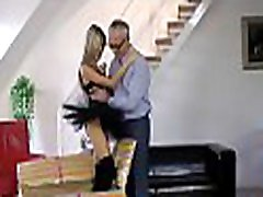 Dilettante babe enjoys a fuck session with an low mb oil dude