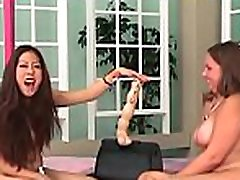 Young playgirl endures harsh treatment on her pussy and tits