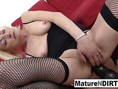 Blonde born videos in hospital In Fishnets Gets Her vergin sleeping Filled With Cum - MatureNDirty